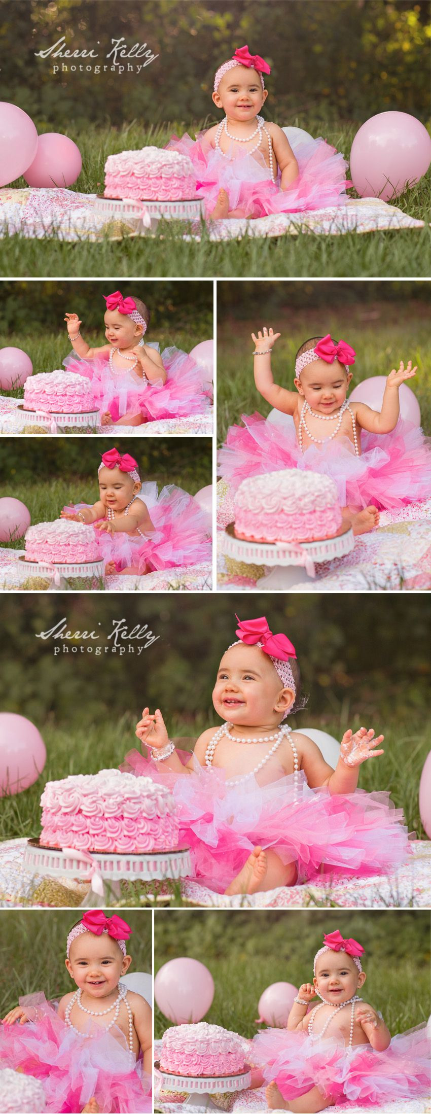 Best ideas about Birthday Cake Smash . Save or Pin Outdoor First Birthday Cake Smash s with pink rose Now.