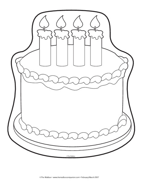 Best ideas about Birthday Cake Template . Save or Pin Cake Drawing Template at GetDrawings Now.