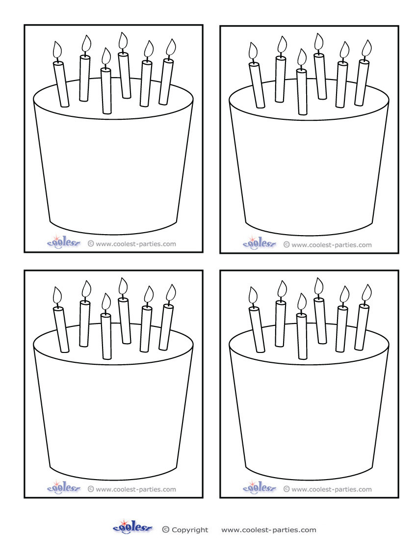 Best ideas about Birthday Cake Template . Save or Pin 6 Best of Birthday Card Printable Blank Templates Now.
