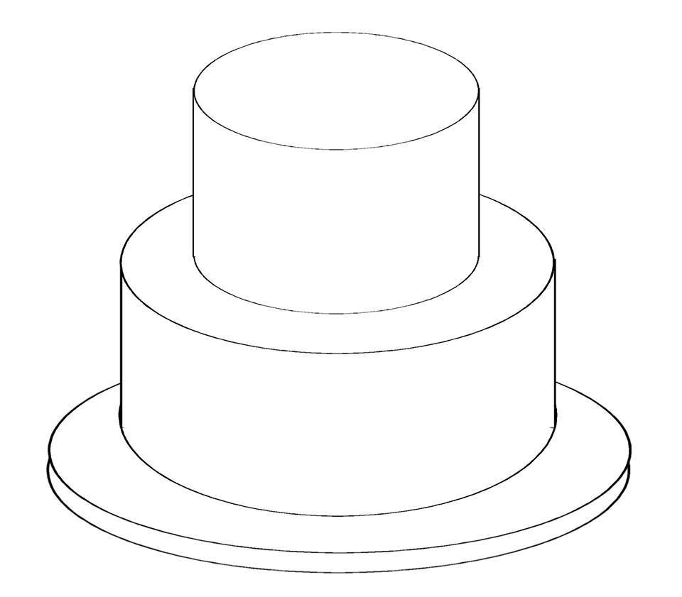 Best ideas about Birthday Cake Template . Save or Pin Birthday Cake Outline Now.