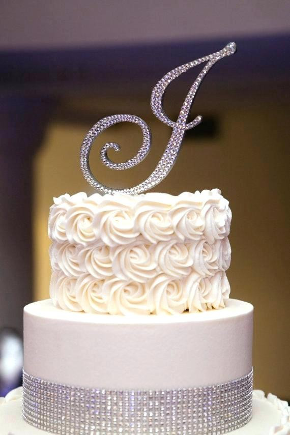 Best ideas about Birthday Cake Toppers Michaels . Save or Pin home improvement Monogram wedding cake topper Summer Now.
