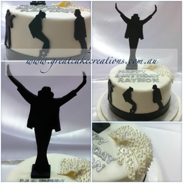 Best ideas about Birthday Cake Toppers Michaels . Save or Pin Michael Jackson silhouette cake tortas Now.
