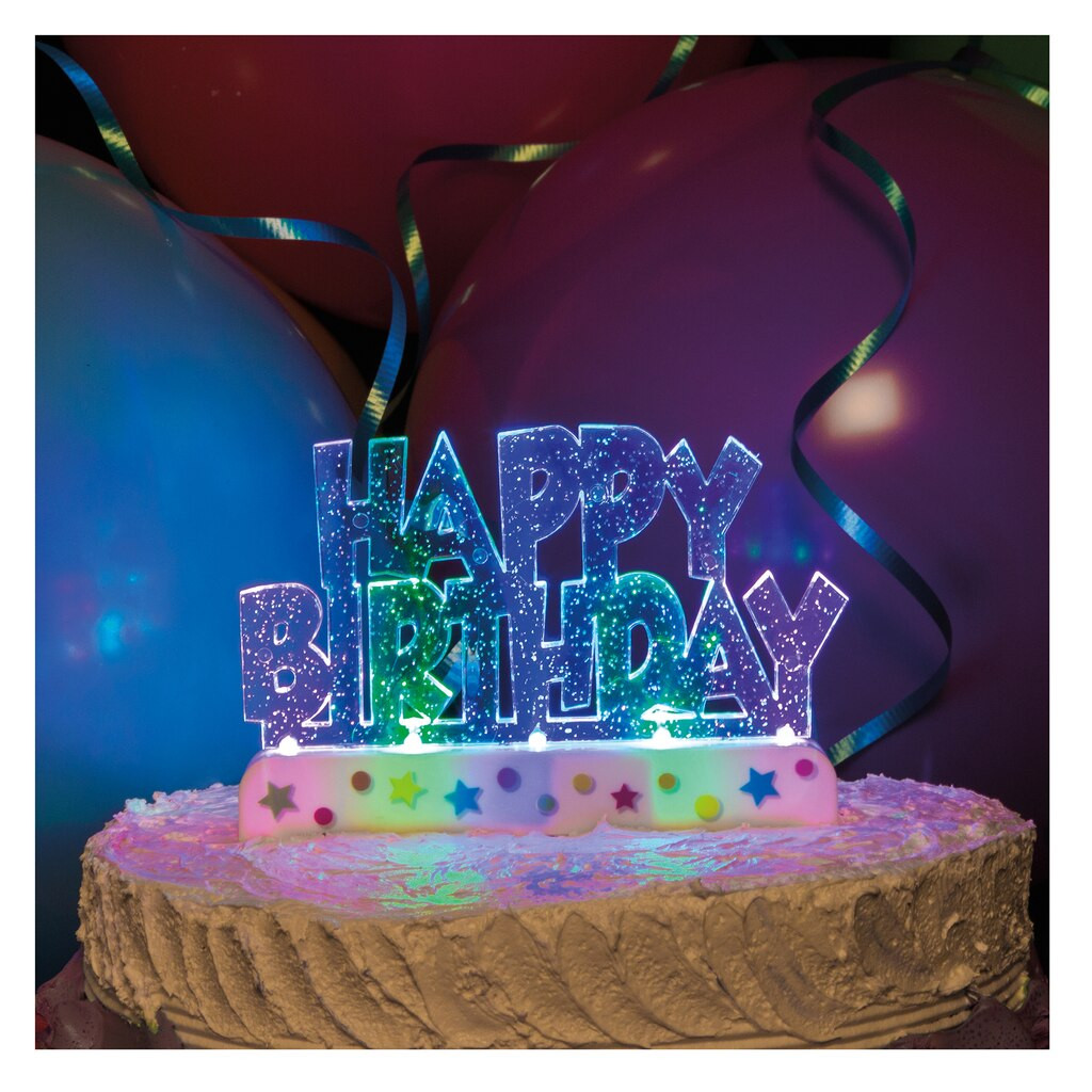 Best ideas about Birthday Cake Toppers Michaels . Save or Pin Flashing Happy Birthday Cake Decoration Now.