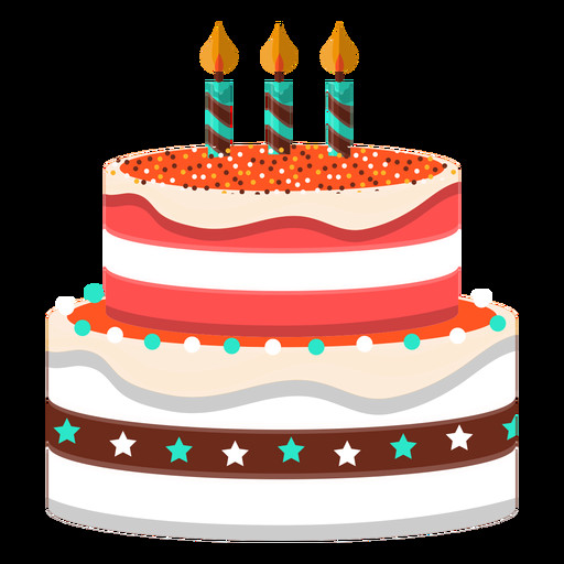 Best ideas about Birthday Cake Transparent . Save or Pin Three candles birthday cake illustration Transparent PNG Now.