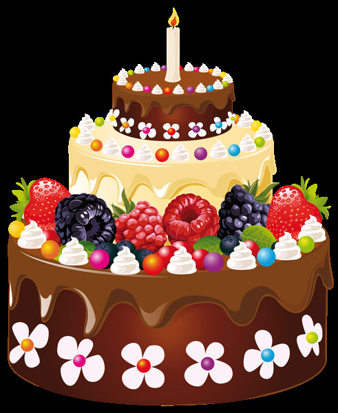 Best ideas about Birthday Cake Transparent . Save or Pin Birthday Cake with Candle PNG Clipart Image Now.