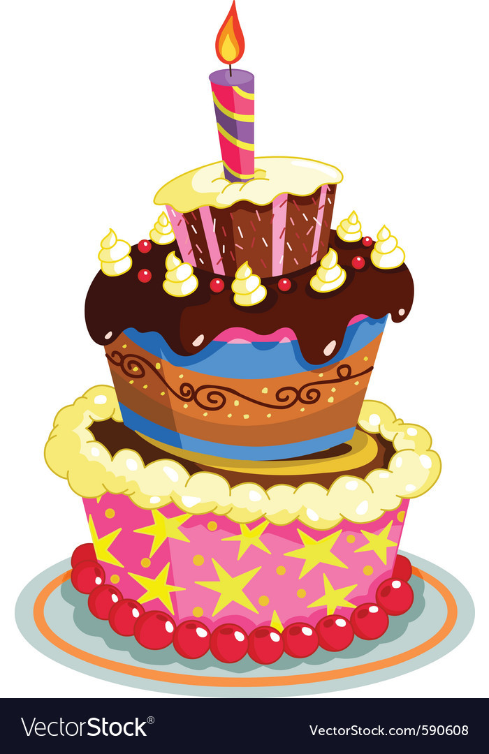 Best ideas about Birthday Cake Vector . Save or Pin Birthday cake Royalty Free Vector Image VectorStock Now.