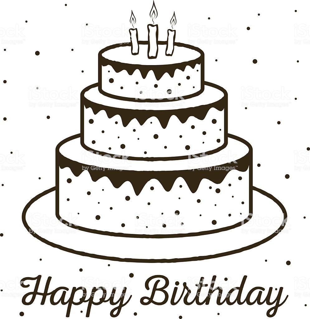 Best ideas about Birthday Cake Vector . Save or Pin Happy Birthday Greeting Card Birthday Cake Stock Vector Now.
