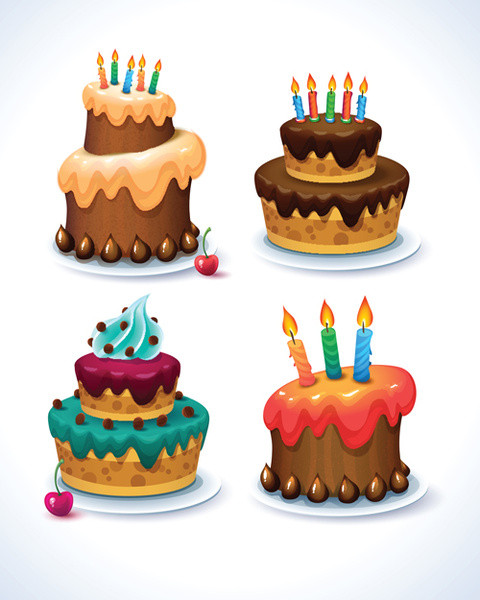 Best ideas about Birthday Cake Vector . Save or Pin Birthday cake free vector 1 584 Free vector for Now.