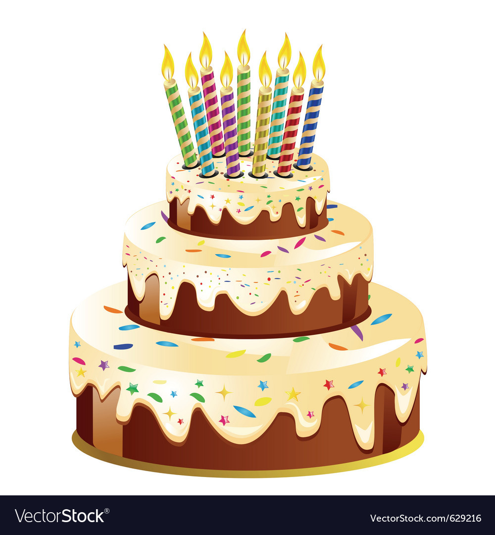 Best ideas about Birthday Cake Vector . Save or Pin Birthday cake and candle Royalty Free Vector Image Now.