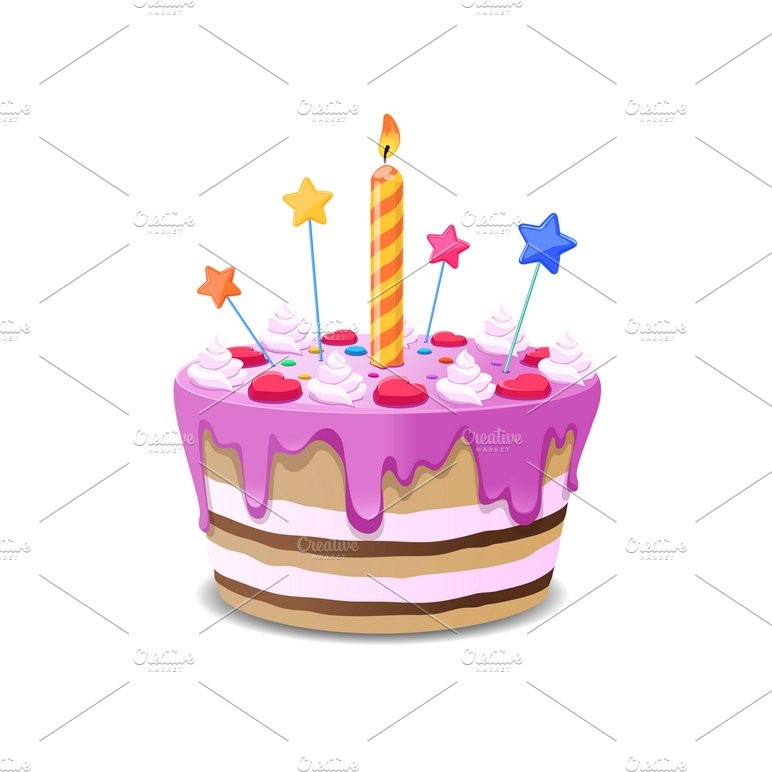 Best ideas about Birthday Cake Vector . Save or Pin Birthday cake vector Illustrations Creative Market Now.