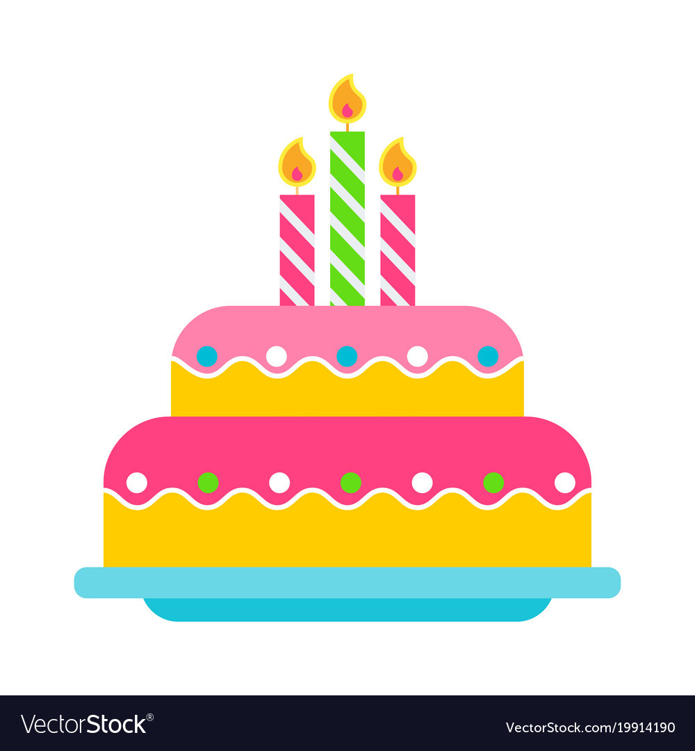 Best ideas about Birthday Cake Vector . Save or Pin Birthday cake color icon Royalty Free Vector Image Now.