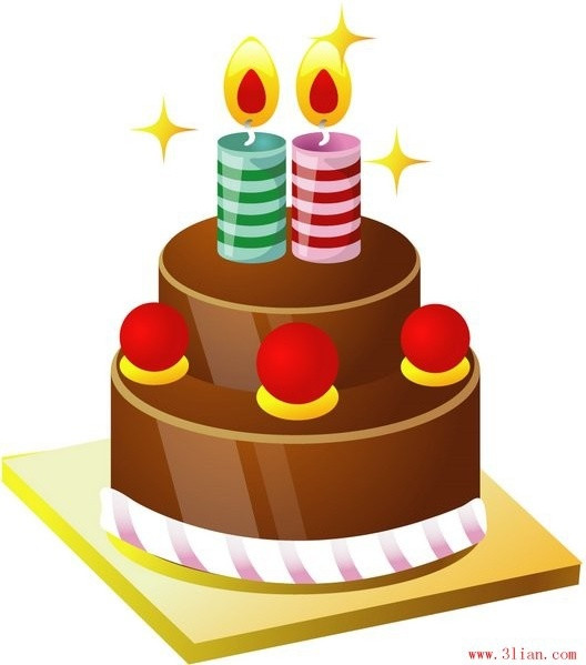 Best ideas about Birthday Cake Vector . Save or Pin Birthday cake vector Free vector in Adobe Illustrator ai Now.