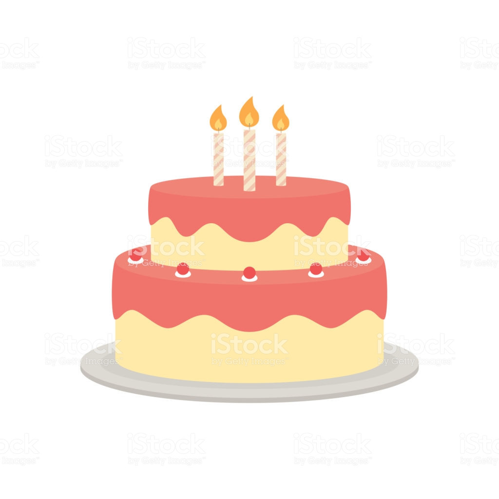 Best ideas about Birthday Cake Vector . Save or Pin Birthday Cake Vector Isolated Illustration Stock Vector Now.