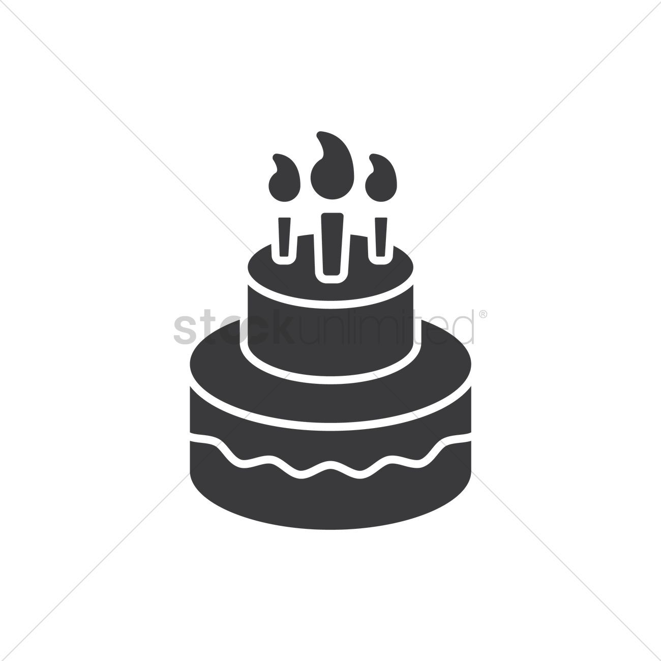 Best ideas about Birthday Cake Vector . Save or Pin Birthday cake Vector Image Now.