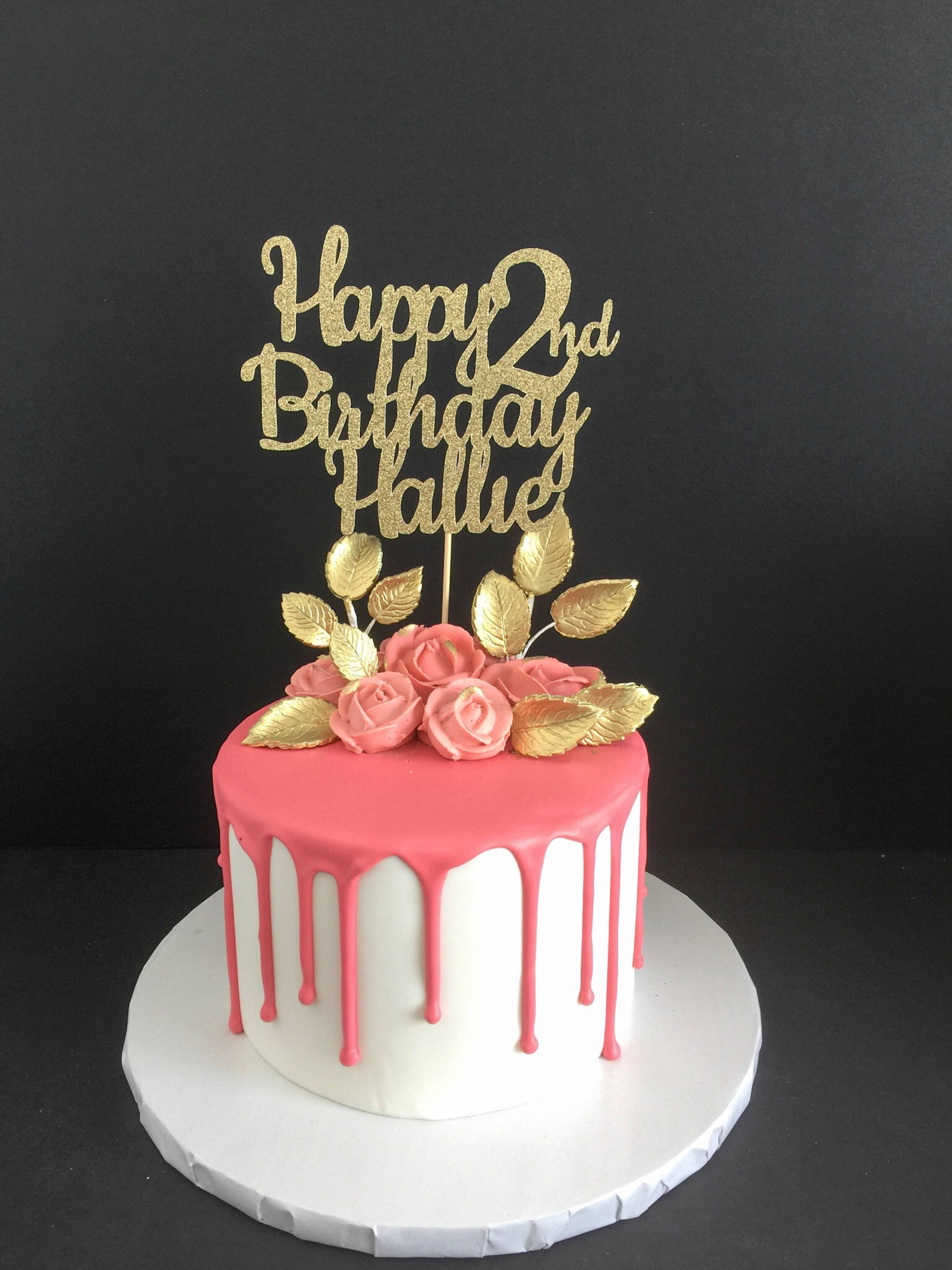 Best ideas about Birthday Cake With Name . Save or Pin Any Name Any Age Happy Birthday Cake Topper Birthday Cake Now.