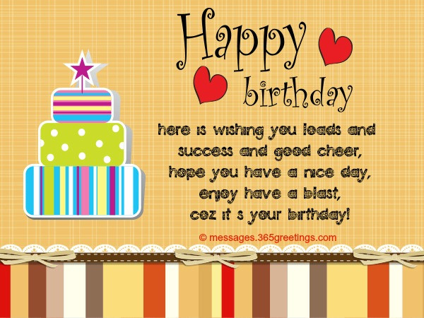 Best ideas about Birthday Card Wishes . Save or Pin Birthday Card Messages And Card Wordings 365greetings Now.