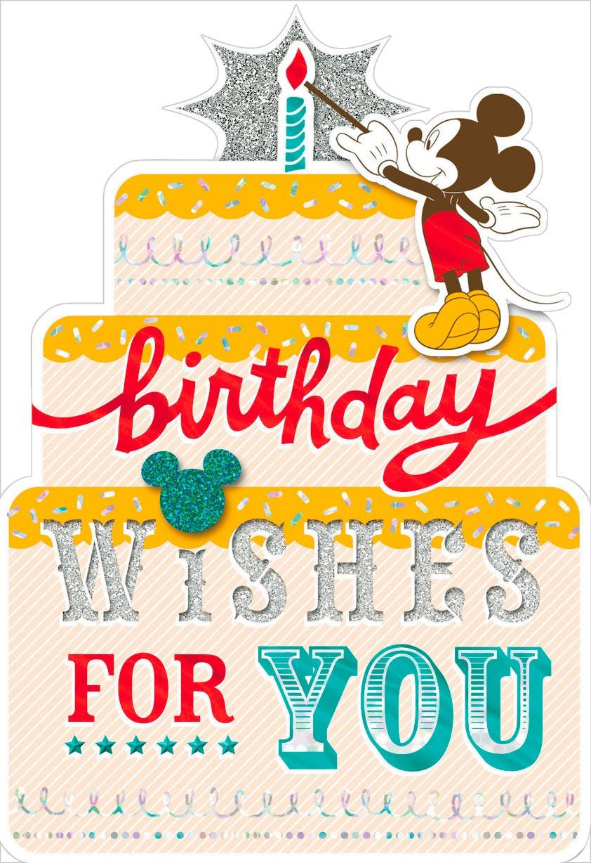 Best ideas about Birthday Card Wishes . Save or Pin Mickey Mouse Birthday Wishes Card Greeting Cards Hallmark Now.