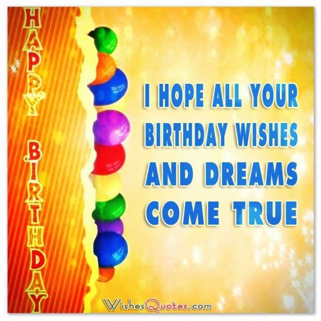 Best ideas about Birthday Card Wishes . Save or Pin Happy Birthday Greeting Cards – WishesQuotes Now.