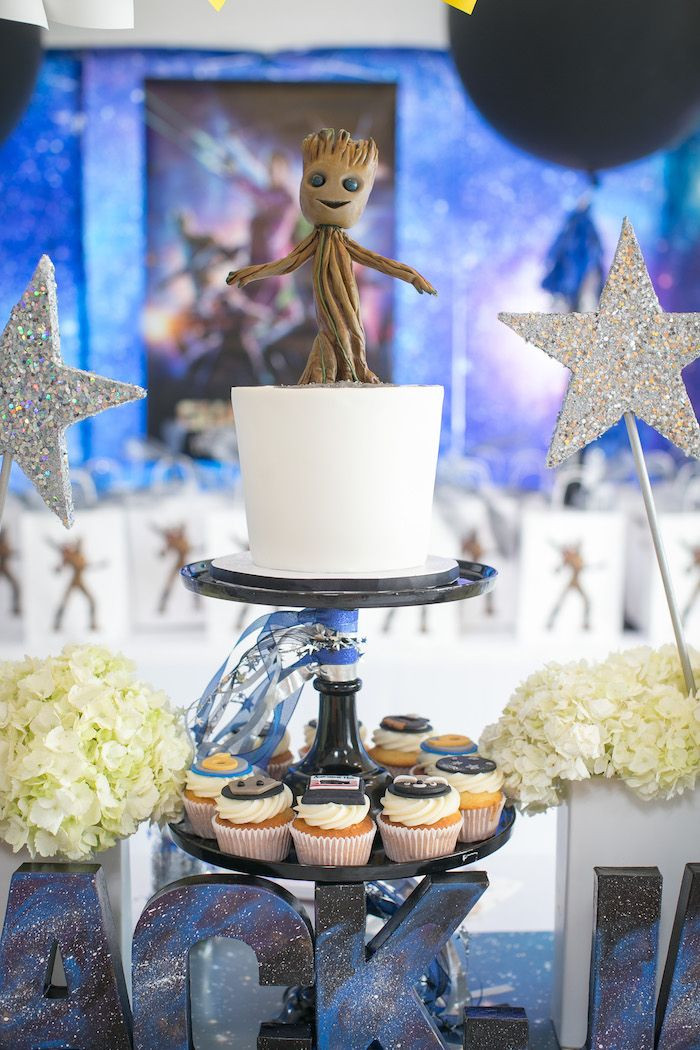 "Best ideas about Birthday Decorations . Save or Pin Groot Cake from a ""Guardians of the Galaxy"" Birthday Party Now."