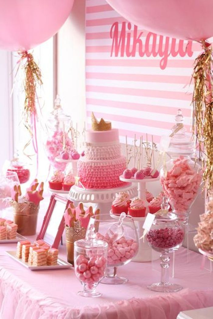Best ideas about Birthday Decorations . Save or Pin Pinkalicious 6th Birthday Princess Party Kara s Party Now.