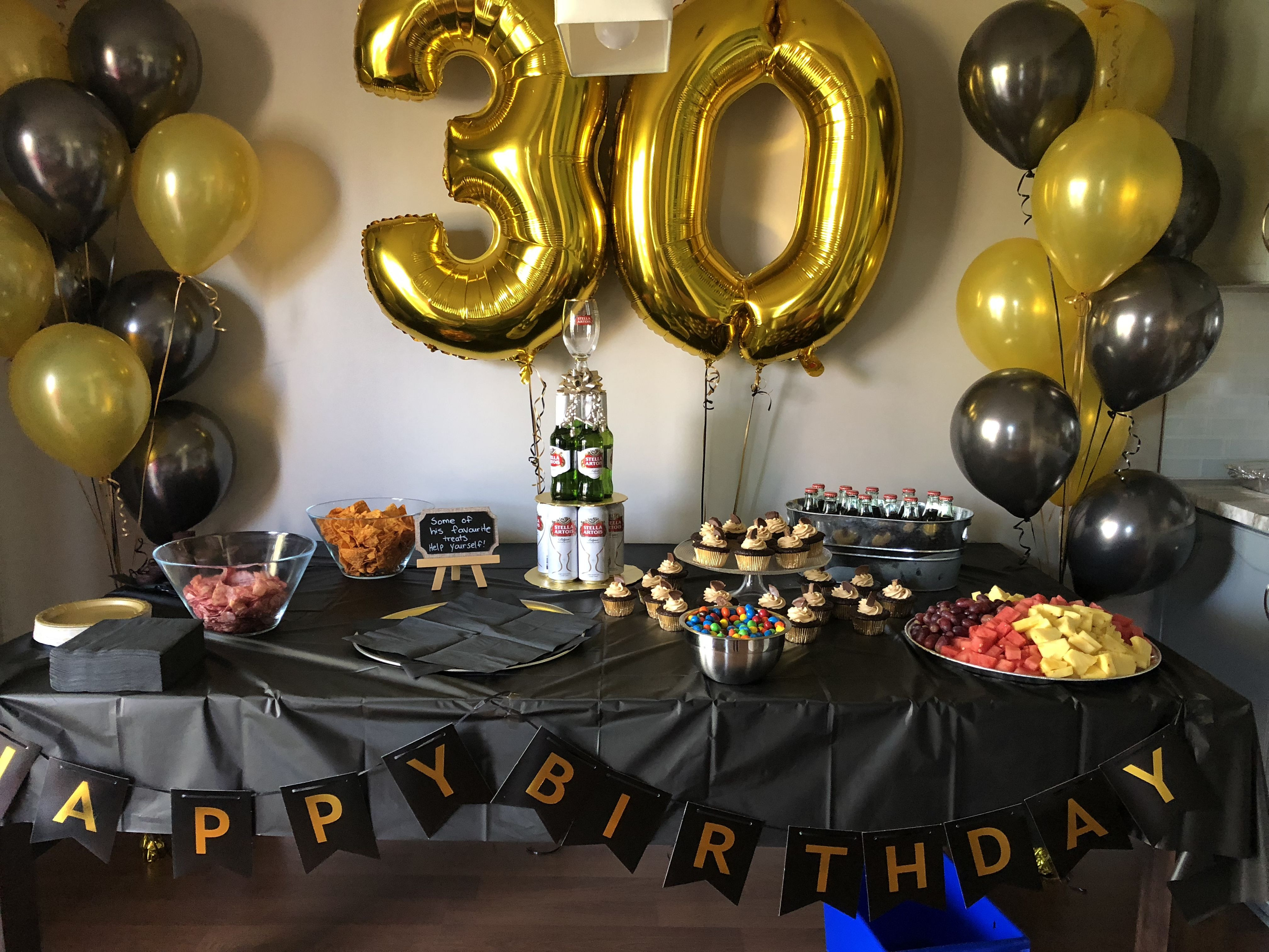 Best ideas about Birthday Decorations For Him . Save or Pin 30th Birthday decor for him Now.