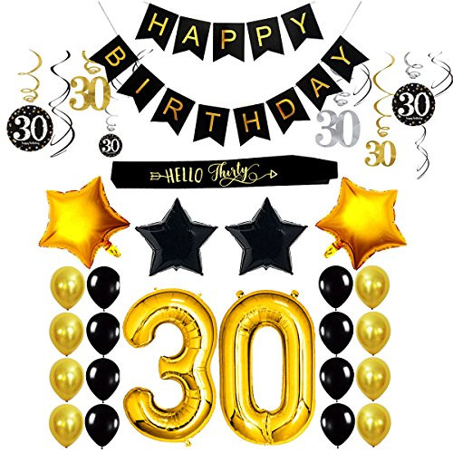 Best ideas about Birthday Decorations For Him . Save or Pin 30Th Birthday Decorations Party Supplies For Him Her Sash Now.