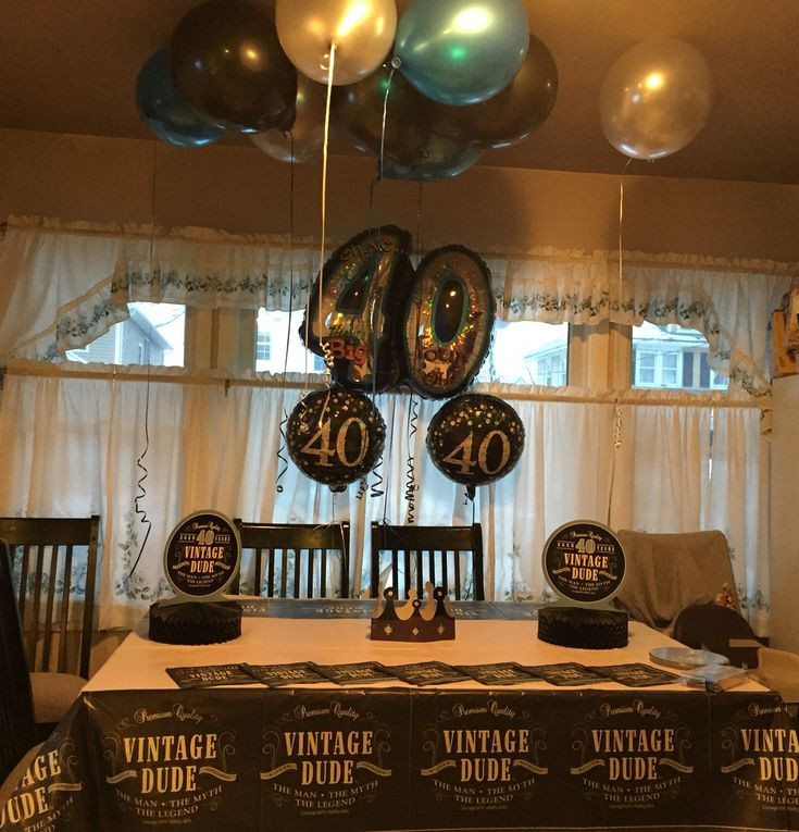 Best ideas about Birthday Decorations For Him . Save or Pin 40th birthday decorations for him Now.