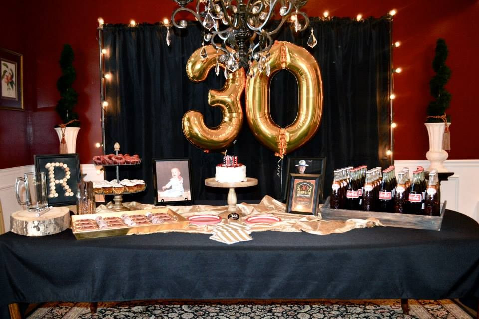Best ideas about Birthday Decorations For Him . Save or Pin Masculine decor for surprise party men s 30th birthday Now.