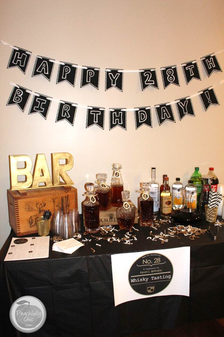 Best ideas about Birthday Decorations For Him . Save or Pin Planning A Guy s Birthday Party Whiskey Tasting Now.