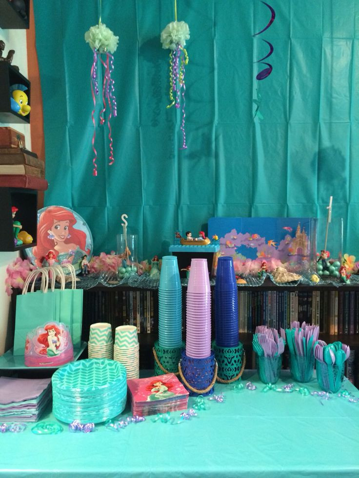 Best ideas about Birthday Decorations . Save or Pin Disney s The Little Mermaid Girl s Birthday Party Now.