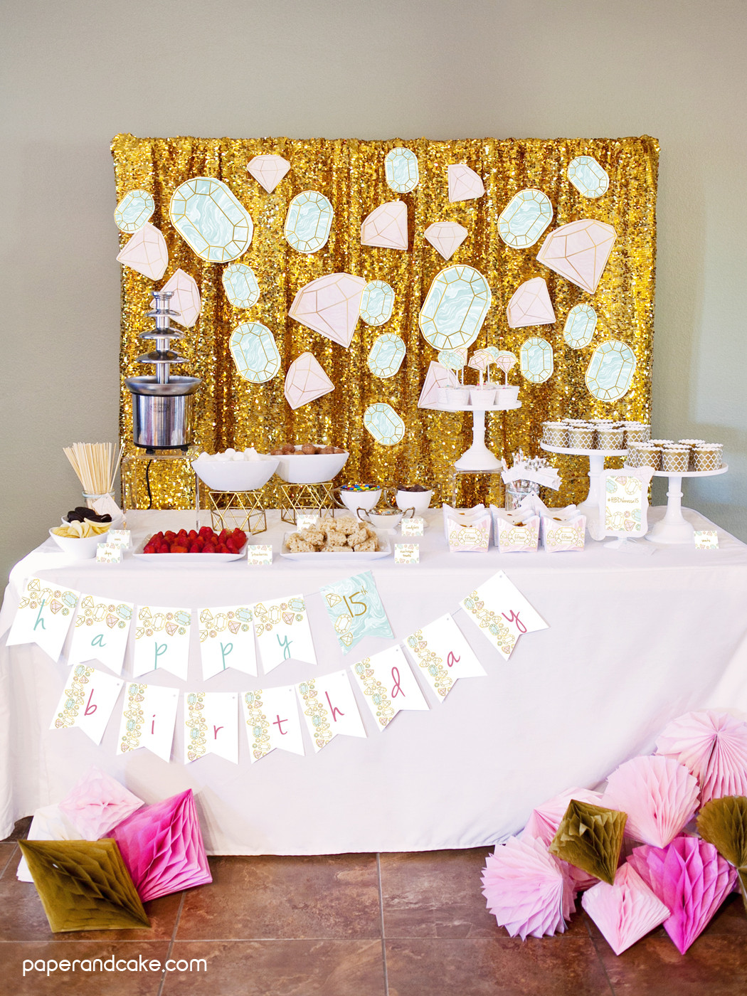 Best ideas about Birthday Decorations . Save or Pin Gemstone Birthday Party Ideas Paper and Cake Paper and Cake Now.