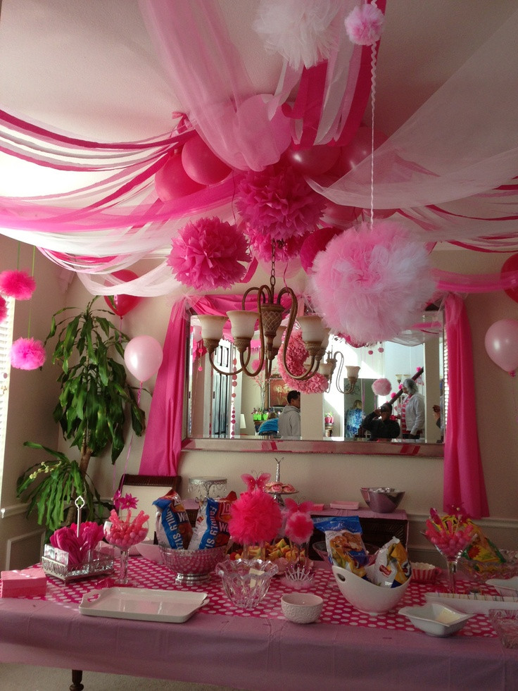 "Best ideas about Birthday Decorations . Save or Pin ""Pink Party"" Decor I used a hula hoop as the central Now."
