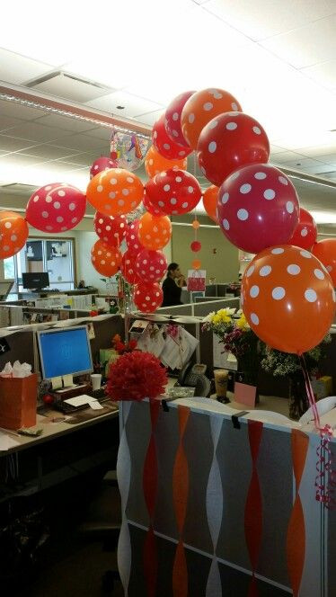 Best ideas about Birthday Desk Decorations . Save or Pin Cubicle decor birthday decor ideas for work Now.