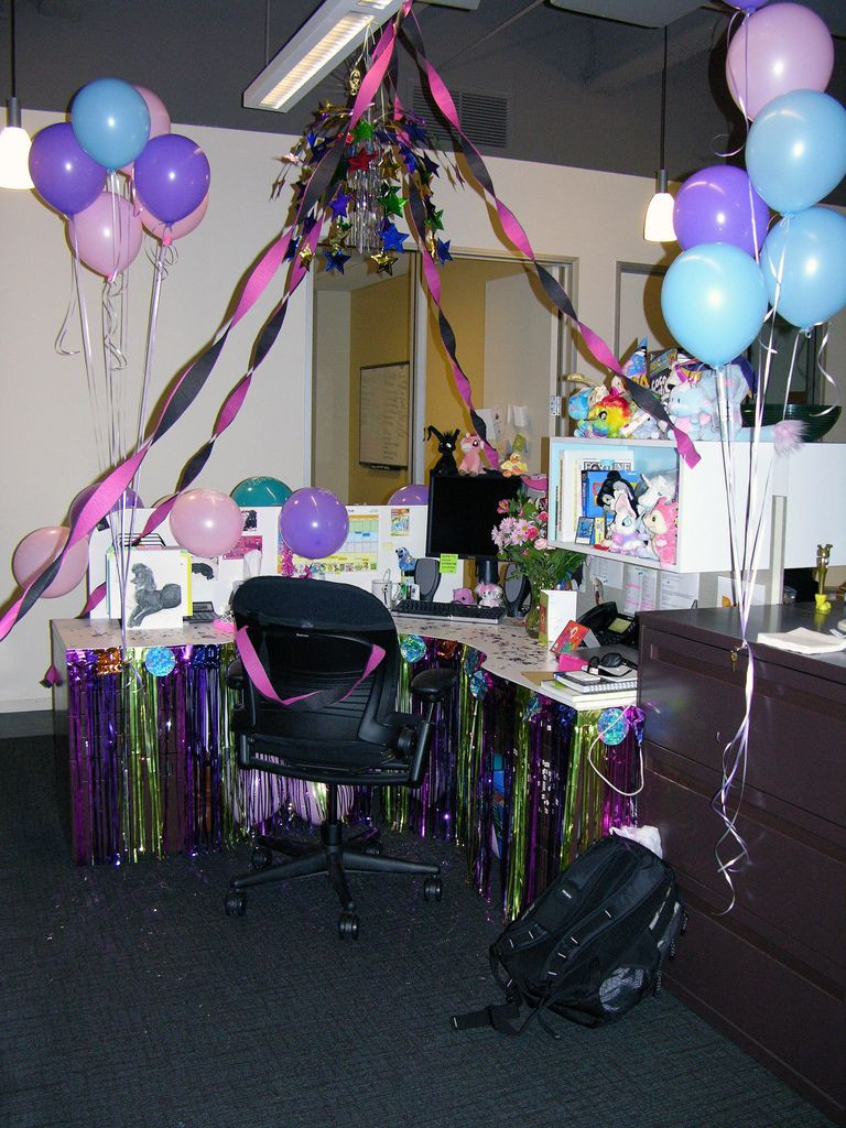 Best ideas about Birthday Desk Decorations . Save or Pin OFFICE CUBICLE birthday surprise Now.