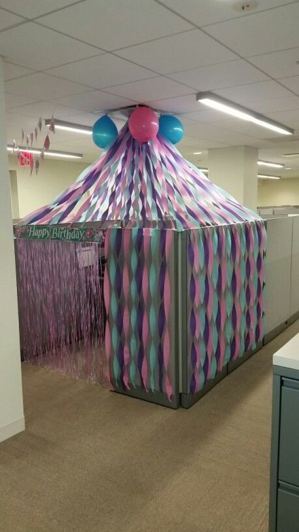 Best ideas about Birthday Desk Decorations . Save or Pin 5 Birthday Cubicle Decorations For Your fice Bestie's Now.