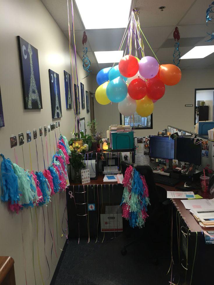 Best ideas about Birthday Desk Decorations . Save or Pin Birthday decorations for cubicle Now.