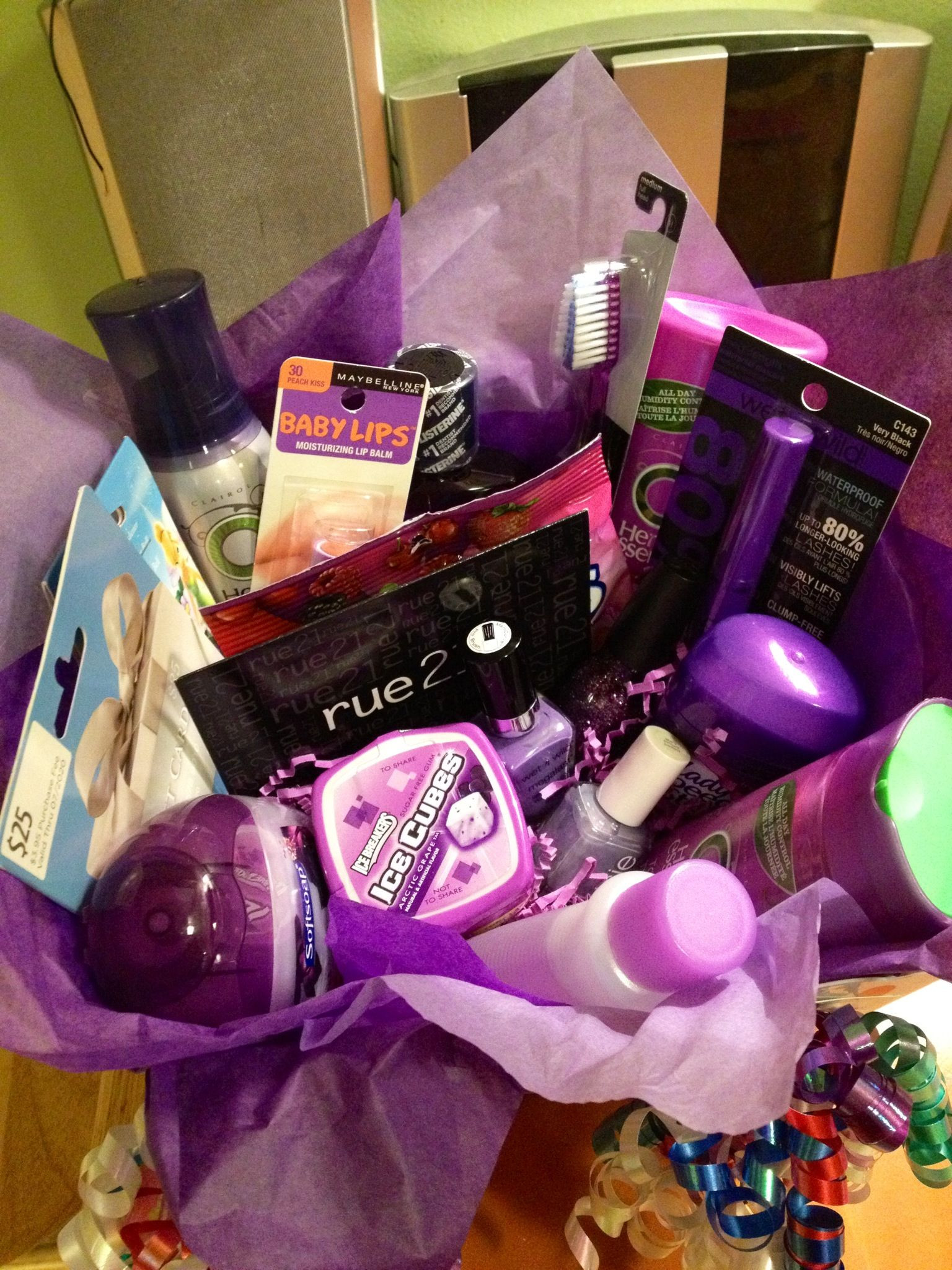 Best ideas about Birthday Gift Ideas For Best Friend Girl . Save or Pin Colorful t basket ideas Gift basket ideas Now.