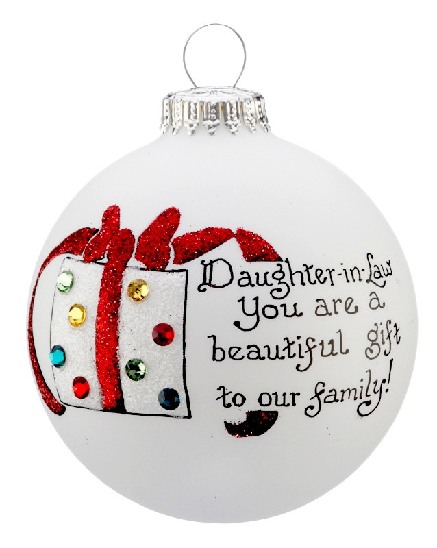 Best ideas about Birthday Gift Ideas For Daughter In Law . Save or Pin Beautiful Gift Daughter in Law Personalized Ornament Now.