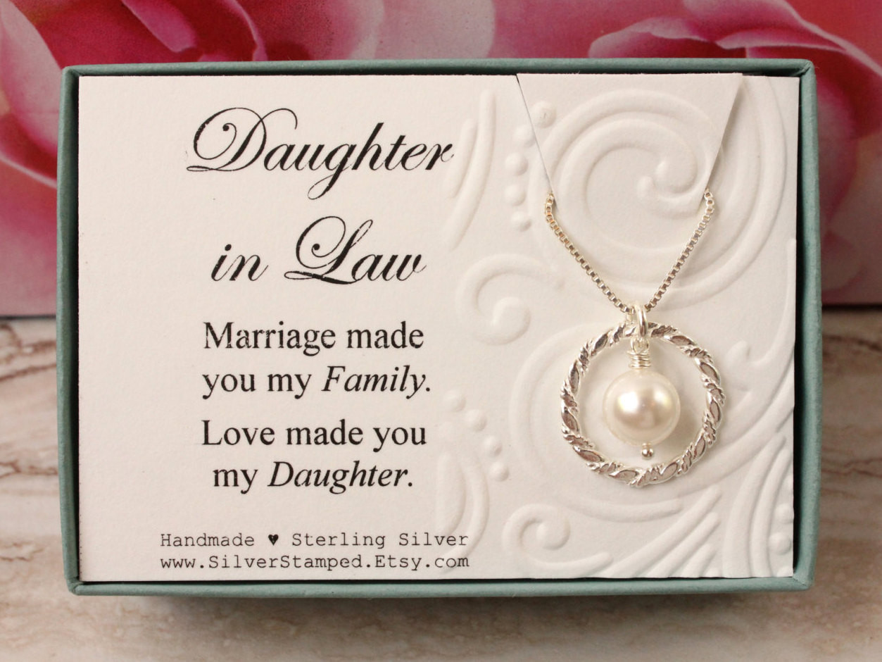 Best ideas about Birthday Gift Ideas For Daughter In Law . Save or Pin Daughter in Law Gift from Mother in Law Sterling silver Now.