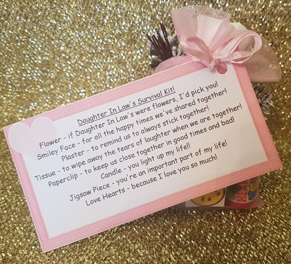 Best ideas about Birthday Gift Ideas For Daughter In Law . Save or Pin DAUGHTER IN LAW Survival Kit Fun Novelty Gift For Now.