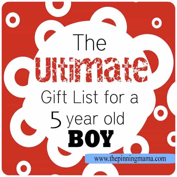 Best ideas about Birthday Gifts For 5 Year Old Boy . Save or Pin The ULTIMATE List of Gift Ideas for a 5 Year Old Boy Now.