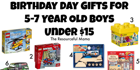 Best ideas about Birthday Gifts For 5 Yr Old Girl . Save or Pin Birthday Gifts for 5 7 Year Old Boys Under $15 The Now.