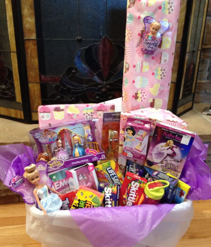 Best ideas about Birthday Gifts For 5 Yr Old Girl . Save or Pin Birthday t basket for a five year old girl Now.