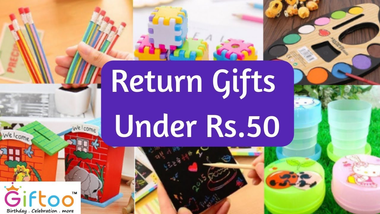 Best ideas about Birthday Gifts For Kids . Save or Pin Return Gifts Ideas Under Rs 50 for kids birthday party Now.