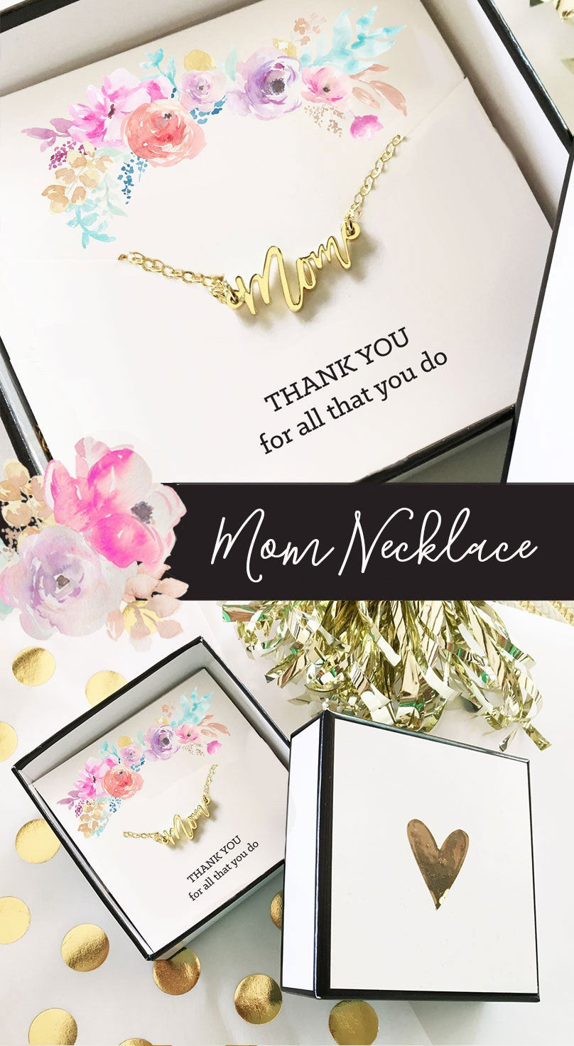 Best ideas about Birthday Gifts For Mom . Save or Pin Mom Necklace Gifts for Mom Birthday Gift For Mom Christmas Now.