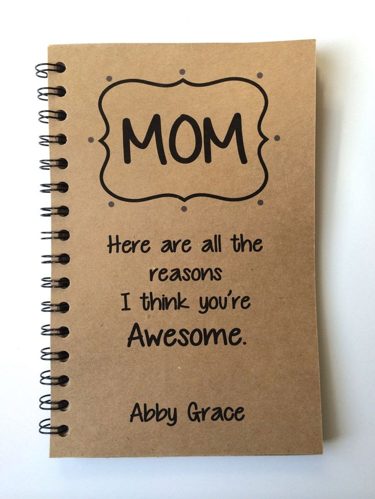 Best ideas about Birthday Gifts For Mom . Save or Pin Birthday Gift to Mom Mothers Day Gift Notebook Gift Now.