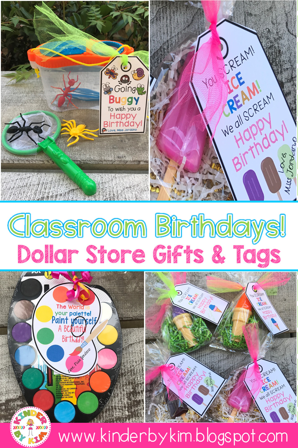 Best ideas about Birthday Gifts From Stores . Save or Pin KinderbyKim s Classroom Birthday Dollar Store Now.