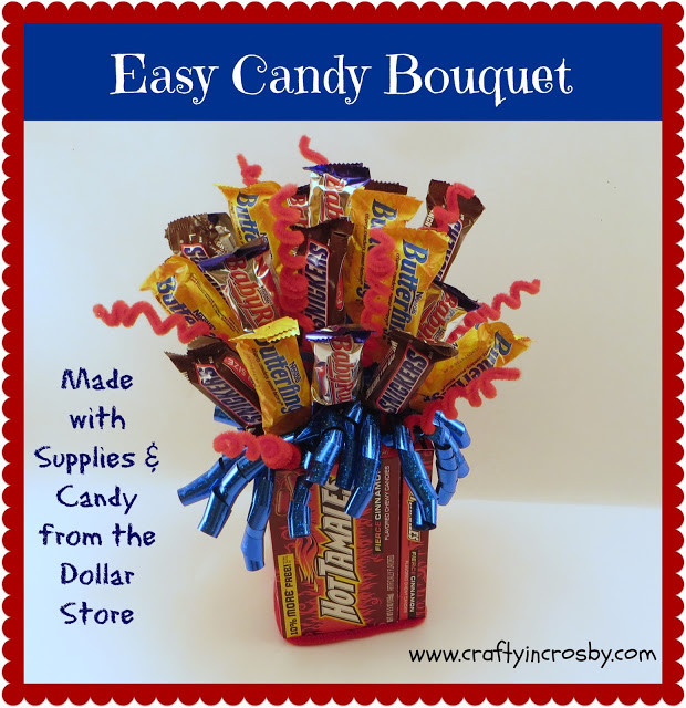 Best ideas about Birthday Gifts From Stores . Save or Pin Crafty in Crosby Easy Dollar Store Candy Bouquet Now.