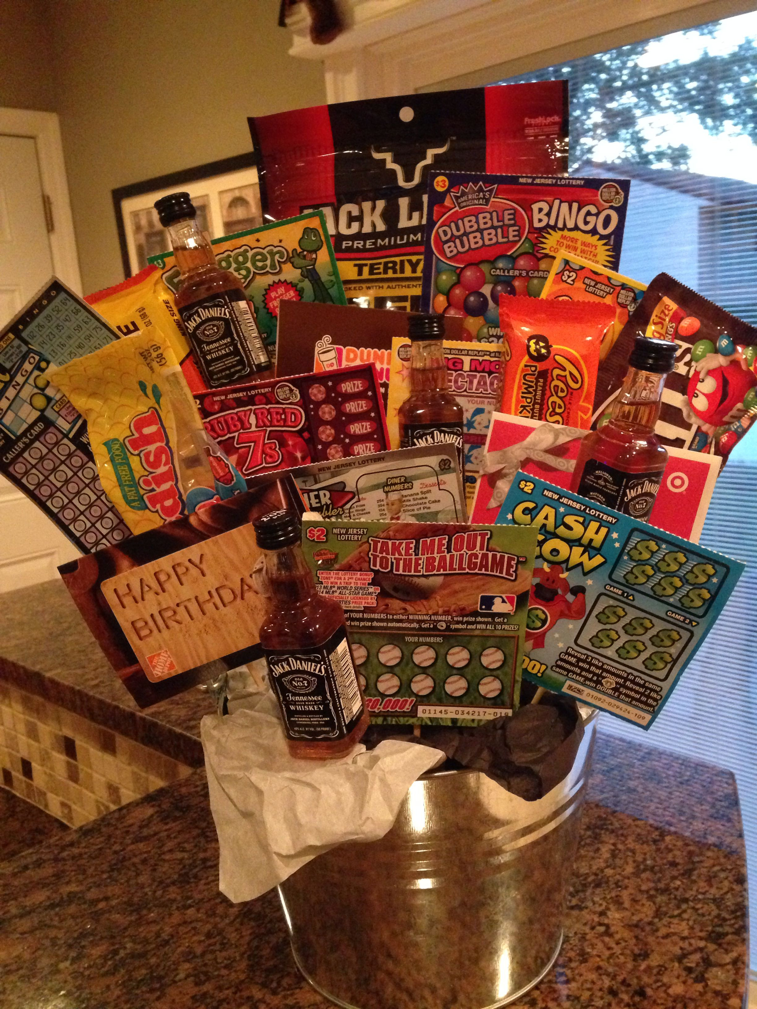 Best ideas about Birthday Gifts Men . Save or Pin Birthday Gift Basket for Guys … Crafty Now.