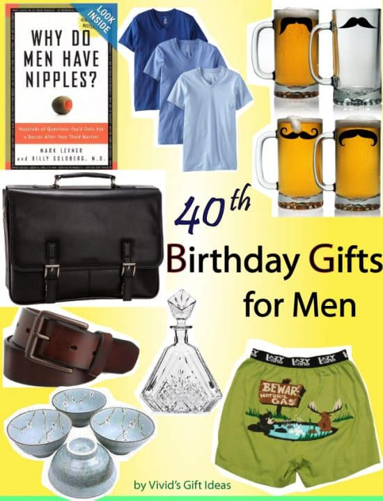 Best ideas about Birthday Gifts Men . Save or Pin 40th Birthday Gift Ideas for Men Vivid s Gift Ideas Now.